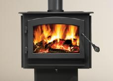 Wood Stove with replacement fireplace glass featuring Robax glass-ceramic