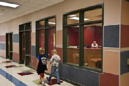 Architectural fire-rated glass as used in Schools and other locations